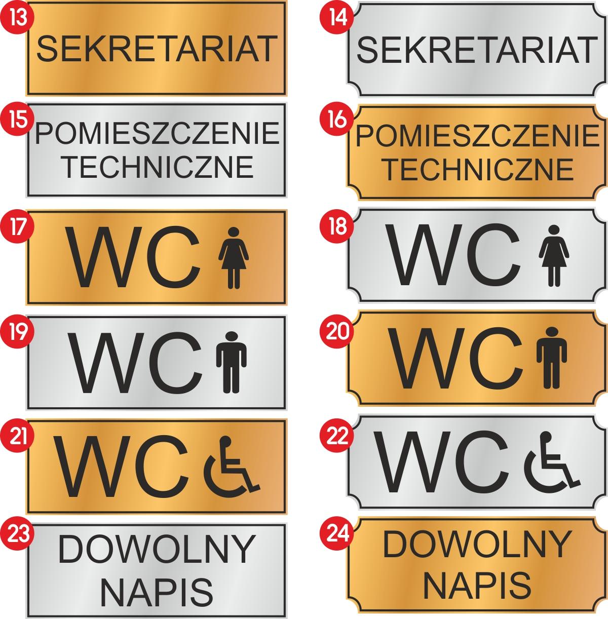 tabliczka informacyjna na drzwi